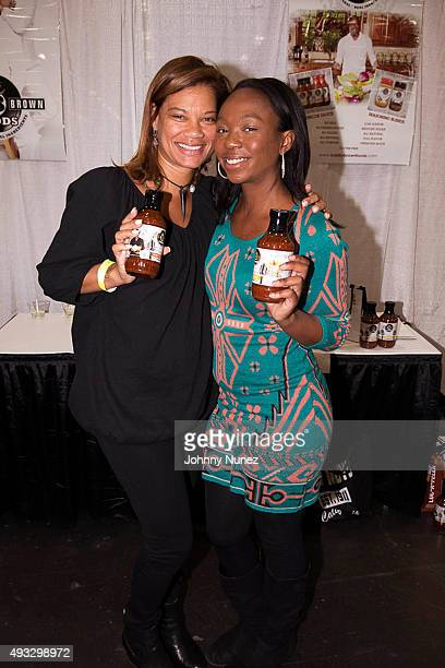 Alicia Etheredge and La'Princia Brown attend the 2015 Circle Of Sisters Expo at Jacob Javitz Center on October 18 in New York City