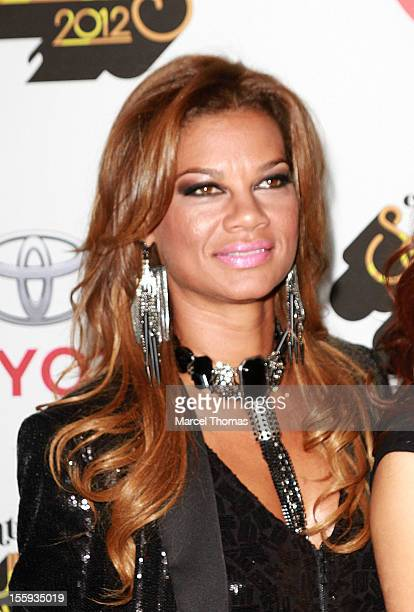 Alicia Etheredge attends the Soul Train Awards 2012 at PH Live at Planet Hollywood Resort and Casino on November 8 2012 in Las Vegas Nevada
