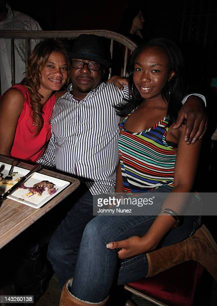 Alicia Etheredge Bobby Brown and LaPrincia Brown attend a dinner at The Darby Restaurant on April 21 2012 in New York City