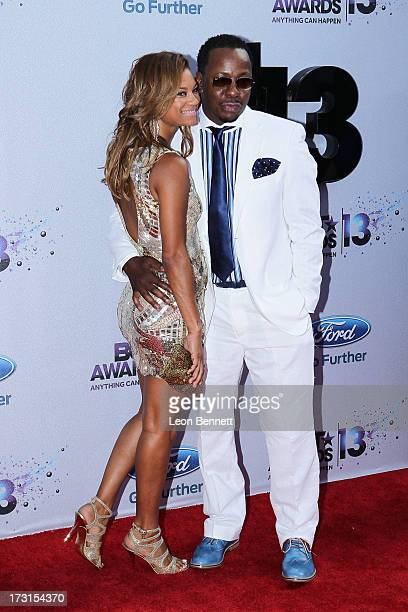 Alicia EtheredgeBrown and Bobby Brown arrives at the 2013 BET Awards Make A Wish Arrivals at Nokia Plaza LA LIVE on June 30 2013 in Los Angeles...