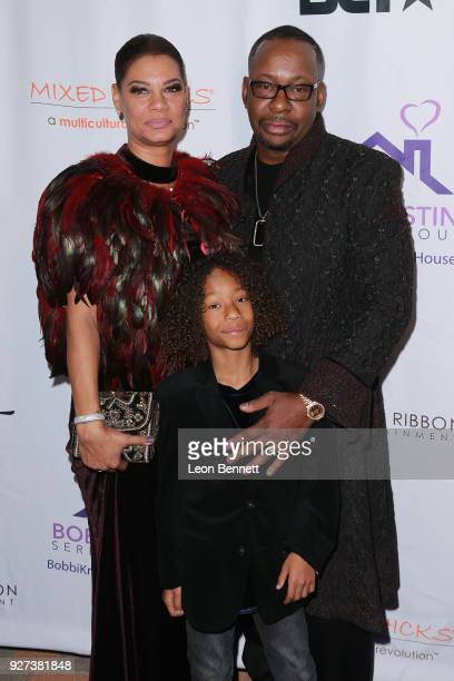 Alicia EtheredgeBrown Bobby Brown and son Cassius Brown attends Bobbi Kristina Serenity House Gala at Taglyan Cultural Complex on March 4 2018 in...