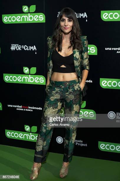 Alicia Fernandez attends 'An Inconvenient Sequel Truth to Power' premiere at the Callao cinema on October 3 2017 in Madrid Spain