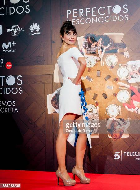 Alicia Fernandez attends 'Perfectos Desconocidos' premiere at the Capitol Cinema on November 28 2017 in Madrid Spain