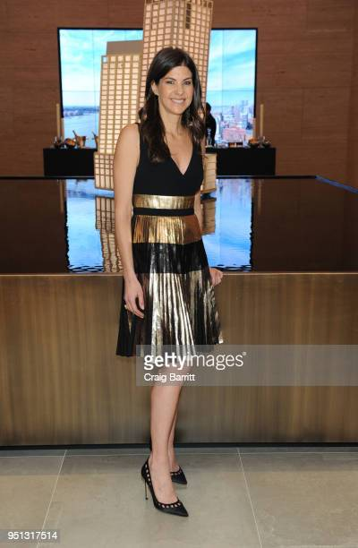 Alicia Goldstein attends the opening of The XI Gallery With Bjarke Ingels Es Devlin and Helene Ziel Feldman on April 25 2018 in New York City