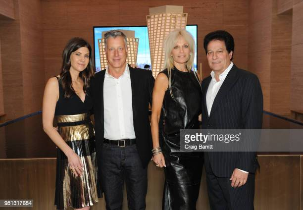 Alicia Goldstein Helene Feldman and Zeil Feldman attend the opening of The XI Gallery With Bjarke Ingels Es Devlin and Helene Ziel Feldman on April...