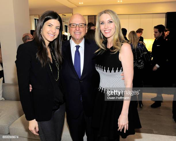 Alicia Goldstein Howard Lorber and Melanie Lazenby attend 11 Beach Model Residence Unveiling Event at 11 Beach Street on March 7 2017 in New York City