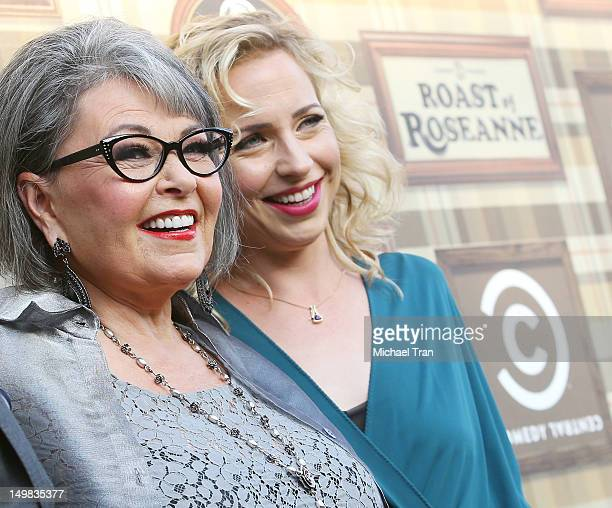 Alicia Goranson and Roseanne Barr arrive at the Comedy Central Roast of Roseanne Barr held at Hollywood Palladium on August 4 2012 in Hollywood...