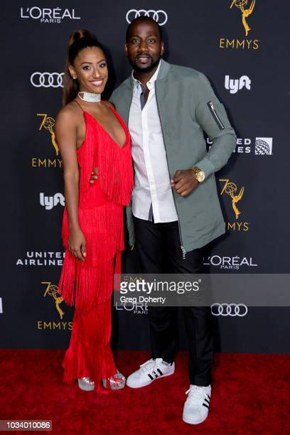 Alicia Gordillo AKA Janina Gordillo and Destorm Power attend the Television Academy Honors Emmy Nominated Performers Reception at Wallis Annenberg...