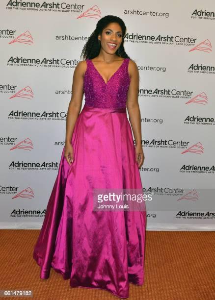 Alicia Hall Moran a MezzoSoprano attends the 11th Season Gala ConcertA Celebration of Women in the Arts at The Adrienne Arsht Center for the...