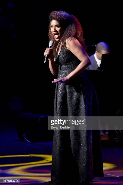 Alicia Hall Moran performs onstage at the Winter Gala at Lincoln Center at Alice Tully Hall on February 13 2018 in New York City