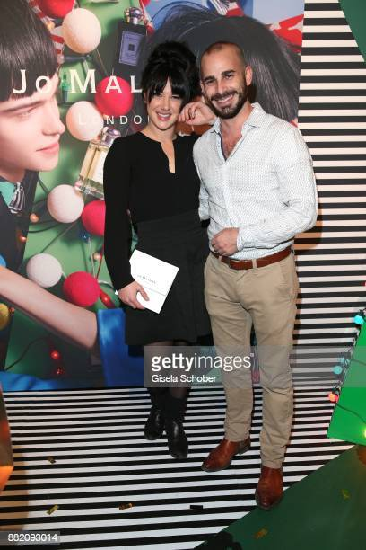 Alicia Haslbeck and her boyfriend Maximilian Allgeier during the Jo Malone London 'Crazy Colourful Christmas' event at Goldberg Studios on November...