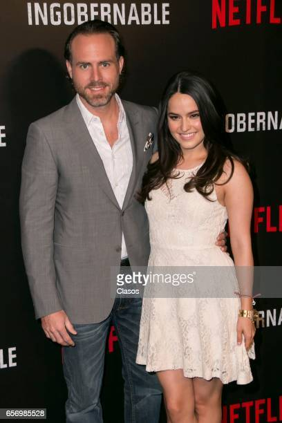 Alicia Jaziz and Erik Hayser attend the launch of Netflix's series 'Ingobernable' photocall at St Regis Hotel on March 22 2017 in Mexico City Mexico