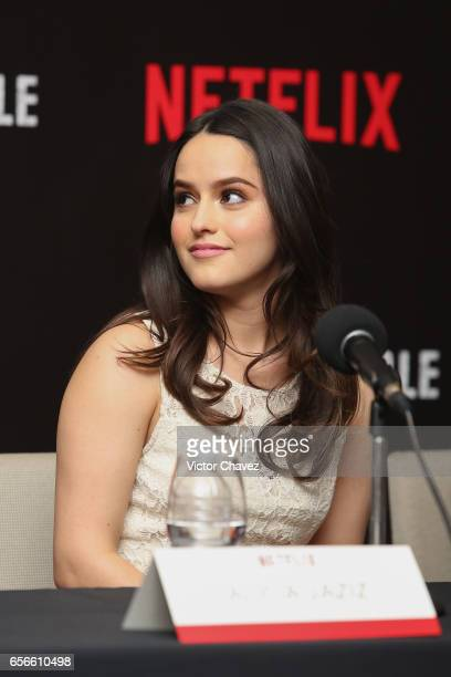 Alicia Jaziz attends a photocall and press conference to promote Netflix's series 'Ingobernable' at St Regis Hotel on March 22 2017 in Mexico City...