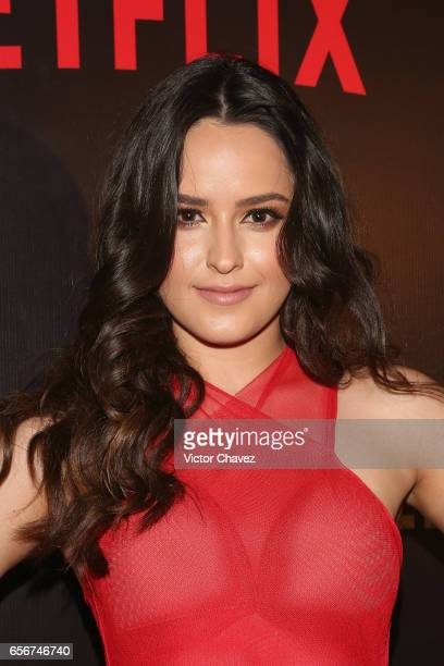 Alicia Jaziz attends the launch of Netflix's series 'Ingobernable' red carpet at Auditorio BlackBerry on March 22 2017 in Mexico City Mexico