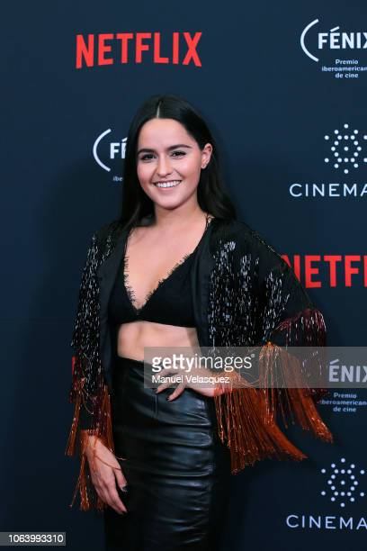 Alicia Jaziz poses for a photo during the first edition of the Netflix Opera Prima awards ceremony at Four Seasons Hotel on November 05 2018 in...