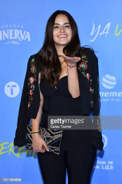 Alicia Jaziz poses for photos during the red carpet of the movie 'Ya Veremos' at Cinemex Antara Polanco on July 31 2018 in Mexico City Mexico