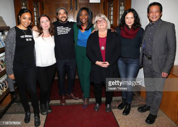 Alicia K Harris Kat McNichol Cory Bowles Lanette WareBushfield Martha Martin Sarah Podemski and Russell Yuen attend Listen And Learn at Kingston Road...