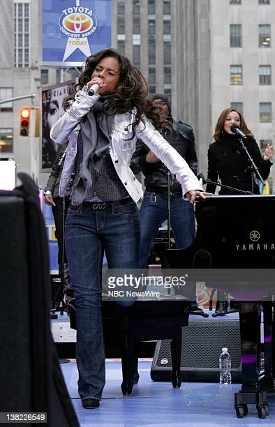 TODAY Alicia Keys Air Date Pictured Musical guest Alicia Keys performs on the Plaza to kick off its Toyota Summer Concert Series on NBC News' Today...