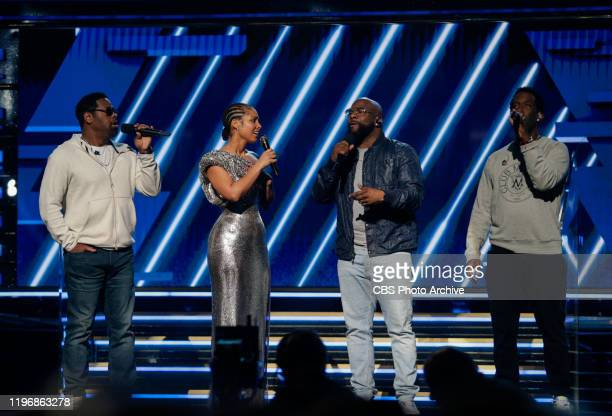 Alicia Keys and Boyz II Men give tribute to Kobe Bryant at THE 62ND ANNUAL GRAMMY® AWARDS broadcast live from the STAPLES Center in Los Angeles...