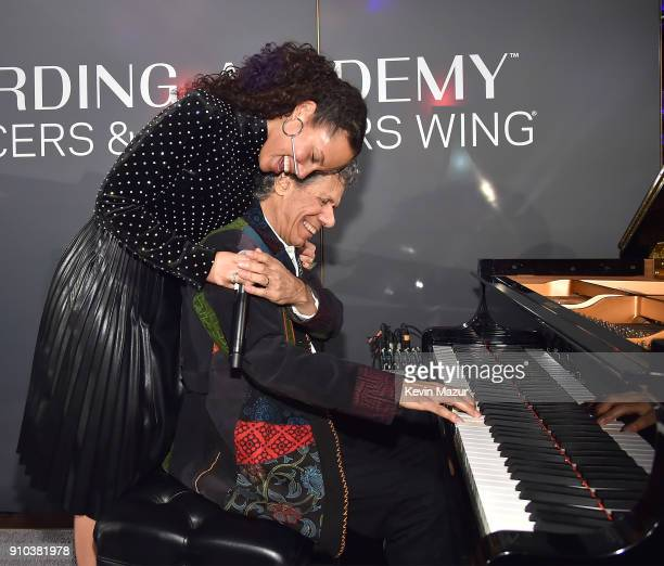 Alicia Keys and Chick Corea perform onstage during the Producers and Engineers Wing 11th Annual GRAMMY Week event honoring Swizz Beatz and Alicia...