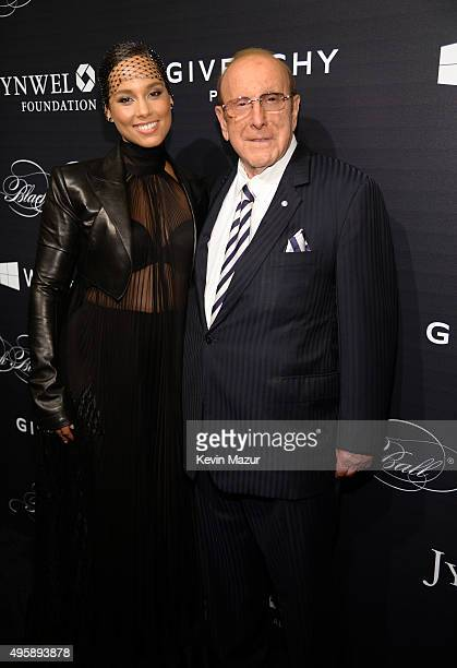 Alicia Keys and Clive Davis attend Keep A Child Alive's 12th Annual Black Ball at Hammerstein Ballroom on November 5, 2015 in New York City.