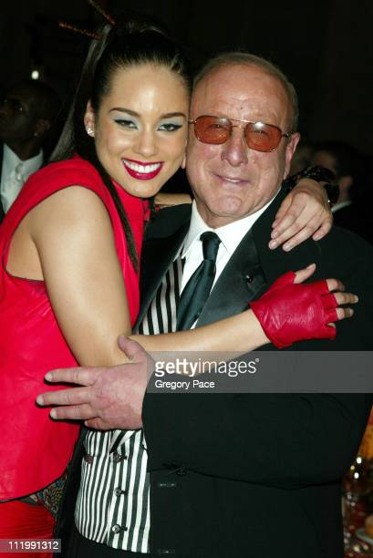 Alicia Keys and Clive Davis during 2003 Clive Davis PreGRAMMY Party at The Regent Wall Street in New York NY United States
