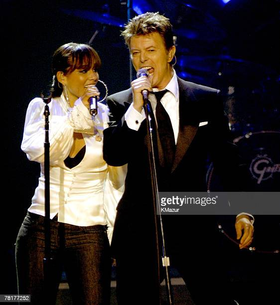 Alicia Keys and David Bowie