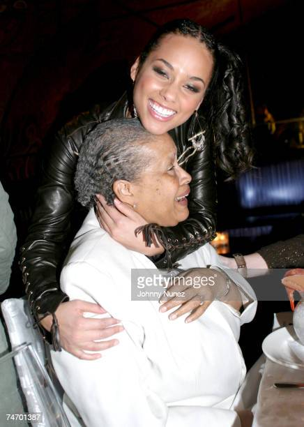 Alicia Keys and grandmother Vergil DiSalvatore at the Eugene in New York City New York