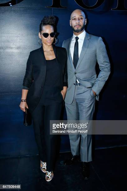 Alicia Keys and her husband Swizz Beatz attend the Christian Dior show as part of the Paris Fashion Week Womenswear Fall/Winter 2017/2018 on March 3...