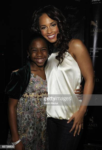 *EXCLUSIVE* Alicia Keys and Jamia Simone Nash pose backstage during the Grand Opening Weekend Celebration at MGM Grand at Foxwoods Resort Casino on...