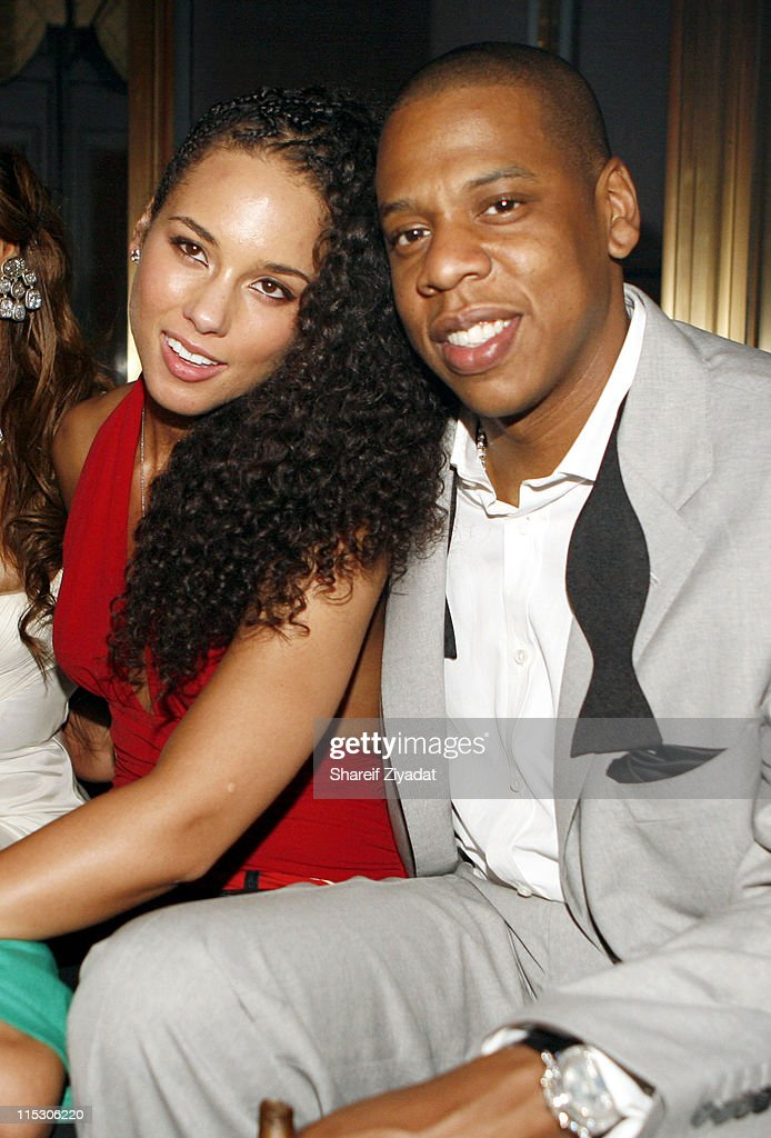 Alicia Keys and Jay Z during Jay-Z Celebrates the 10th Anniversary of 'Reasonable Doubt' - Inside at Rainbow Room in New York, United States.