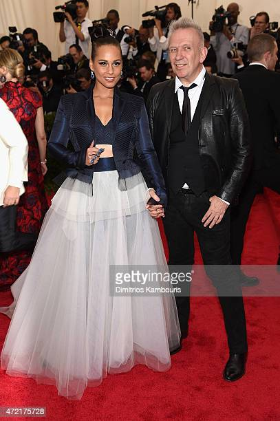 Alicia Keys and Jean Paul Gaultier attend the 'China Through The Looking Glass' Costume Institute Benefit Gala at the Metropolitan Museum of Art on...