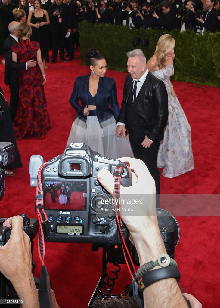 Alicia Keys and Jean-Paul Gaultier attend the 'China: Through The Looking Glass' Costume Institute Benefit Gala at the Metropolitan Museum of Art on May 4, 2015 in New York City.