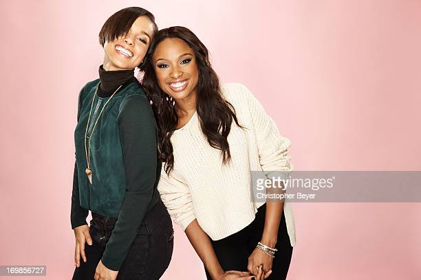 Alicia Keys and Jennifer Hudson are photographed for Entertainment Weekly Magazine on January 19 2013 in Park City Utah