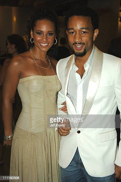 Alicia Keys and John Legend during 2005 MTV Video Music Awards Audience and Backstage at American Airlines Arena in Miami Florida United States