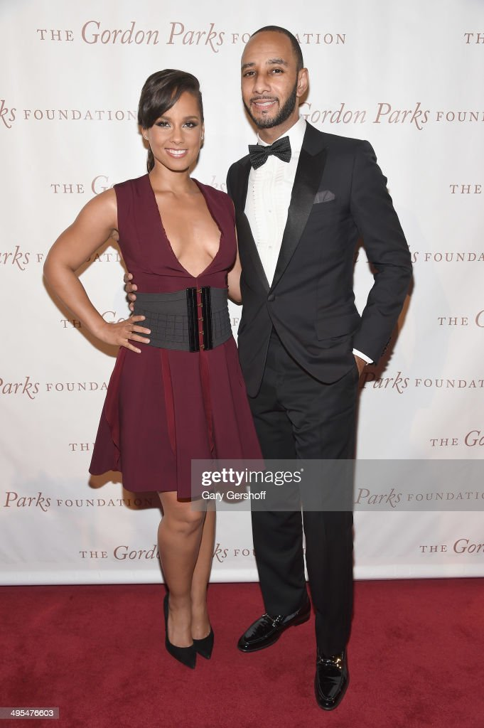 Alicia Keys and Kasseem 'Swizz Beatz' Dean attend the 2014 Gordan Parks Foundation Awards Dinner & Auction at Cipriani Wall Street on June 3, 2014 in New York City.