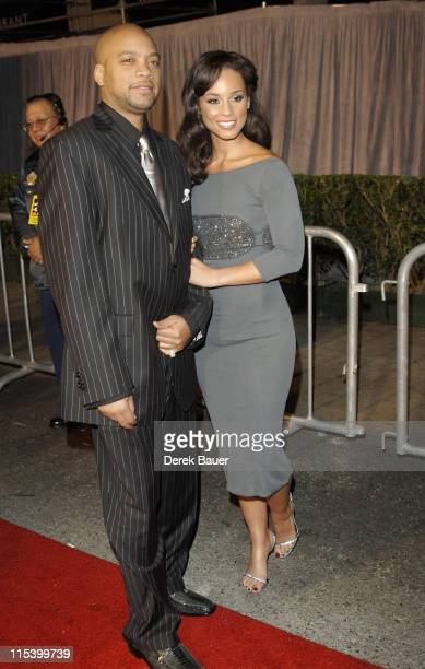 """Alicia Keys and Kerry """"Krucial"""" Brothers during Walt Disney Pictures and Jerry Bruckheimer Films' Premiere """"Glory Road"""" at Pantages Theatre in..."""