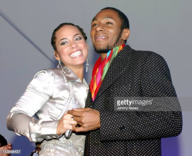 Alicia Keys and Mos Def during Alicia Keys Album Release Party at Industria in New York City 2003 at Industria in New York New York United States