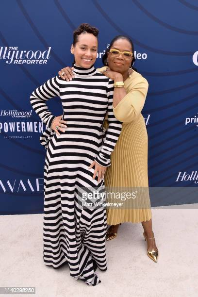 Alicia Keys and Oprah Winfrey attend The Hollywood Reporter's Empowerment In Entertainment Event 2019 at Milk Studios on April 30 2019 in Los Angeles...