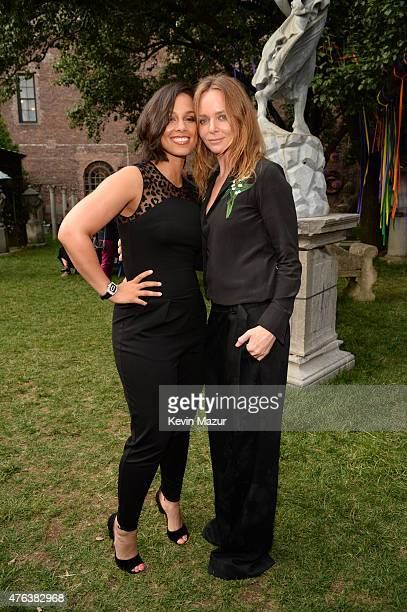 Alicia Keys and Stella McCartney attend the Stella McCartney Spring 2016 Resort Presentation on June 8 2015 in New York City