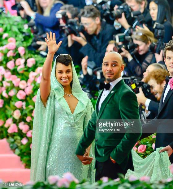 Alicia Keys and Swizz Beats attend the 2019 Met Gala celebrating 'Camp Notes on Fashion' at the Metropolitan Museum of Art at on May 6 2019 in New...