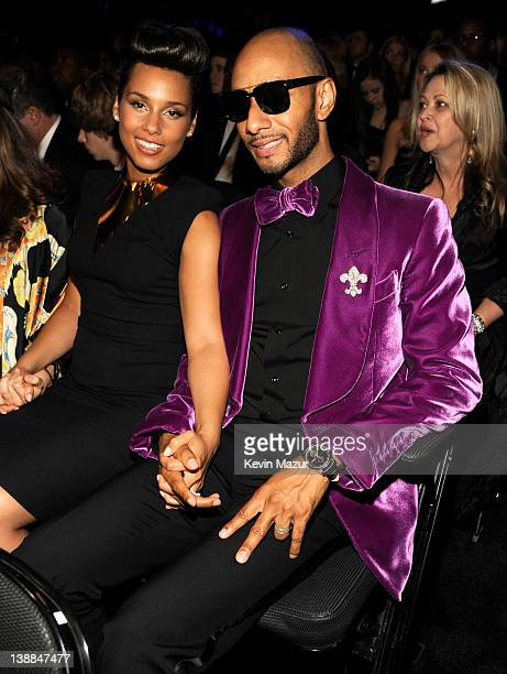 Alicia Keys and Swizz Beats attend The 54th Annual GRAMMY Awards at Staples Center on February 12 2012 in Los Angeles California