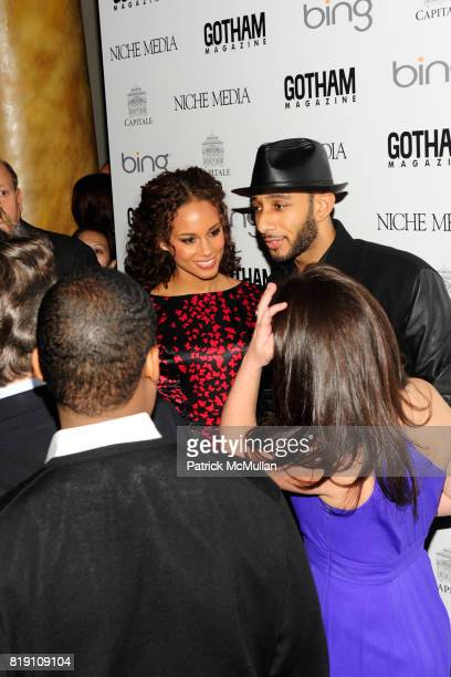 Alicia Keys and Swizz Beatz attend ALICIA KEYS Hosts GOTHAM MAGAZINES Annual Gala Presented by BING at Capitale on March 15, 2010 in New York City.
