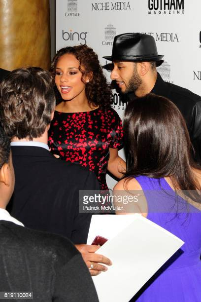Alicia Keys and Swizz Beatz attend ALICIA KEYS Hosts GOTHAM MAGAZINES Annual Gala Presented by BING at Capitale on March 15 2010 in New York City