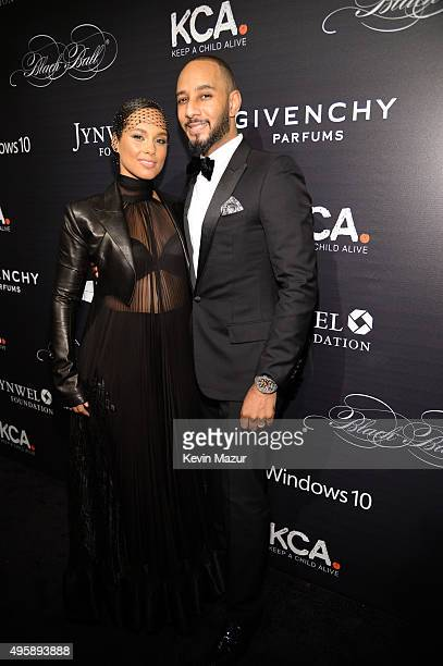 Alicia Keys and Swizz Beatz attend Keep A Child Alive's 12th Annual Black Ball at Hammerstein Ballroom on November 5, 2015 in New York City.