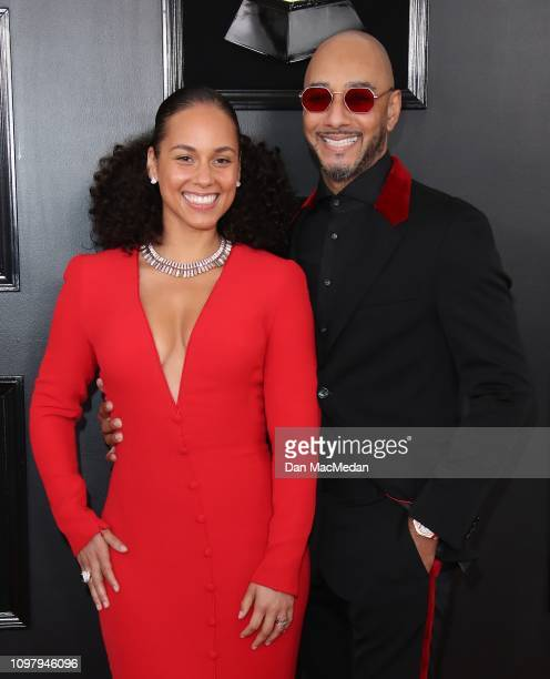 Alicia Keys and Swizz Beatz attend the 61st Annual GRAMMY Awards at Staples Center on February 10 2019 in Los Angeles California