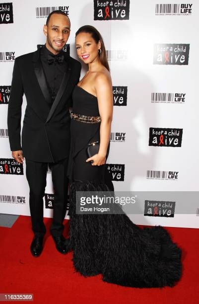 Alicia Keys and Swizz Beatz attend the Keep a Child Alive Black Ball 2011 at Camden Roundhouse on June 15 2011 in London England