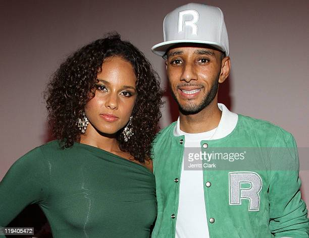 Alicia Keys and Swizz Beatz attend the 'Reethym of Lite' campaign unveiling at Espace on July 19 2011 in New York City