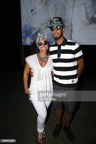 Alicia Keys and Swizz Beatz attend the Swizz Beatz And Bacardi Present No Commission NY Art Perform Day 4 on August 14 2016 in New York City
