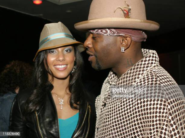 Alicia Keys and Treach during Alicia Keys And Tamia On Stage At The Roxy at Roxy Nightclub in New York City New York United States